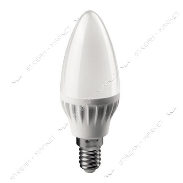 Лампа светодиодная 220 C37 cвеча 6W 4100К Е14