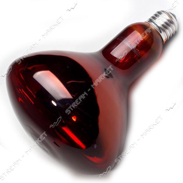 Лампа ИКЗК 'ИСКРА-HELIOS' 250Вт Е27 (Красная) ( кратно 15шт.) (упаковка Гофра-решетка) Львов