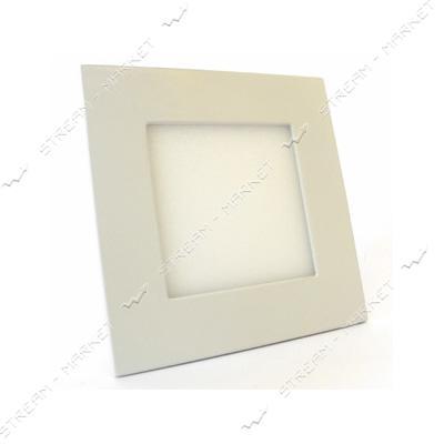 Cветильник LED Down Light алюмин.корп. 6W квадрат 4000К врезной