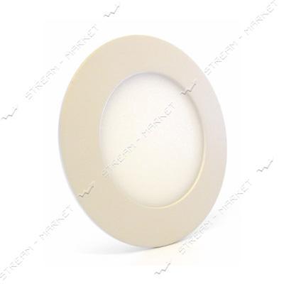 Cветильник LED Down Light алюмин.корп. 6W круг 3000К врезной