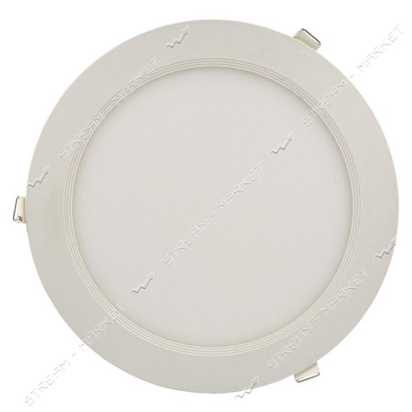 Светильник LED Down Light алюмин.корп. 9W круг 3000К врезной