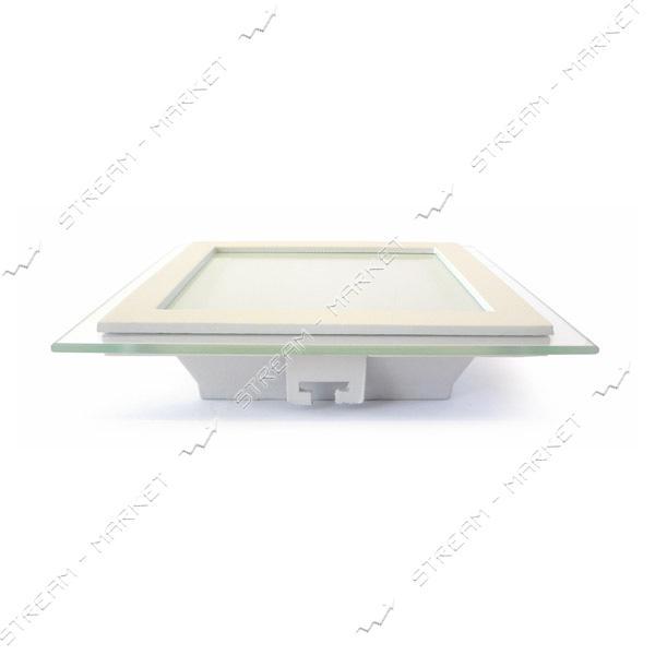 Светильник LED Down Light Glass Rim 12W квадр 3000К врезной