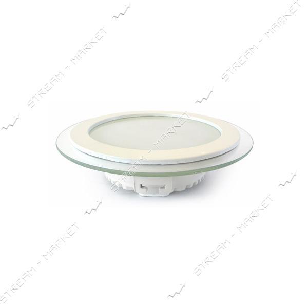 Светильник LED Down Light Glass Rim 12W круг 3000К врезной