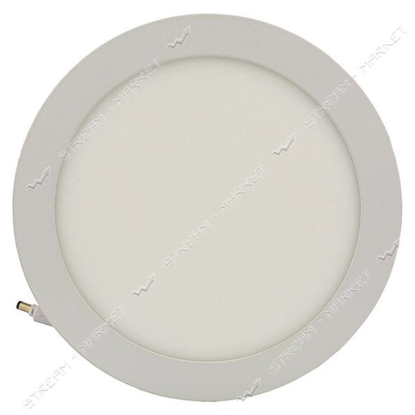 220 LED-PANEL-18WR D/225mm aluminium 2835smd 6500К IP20 круг встраиваемый