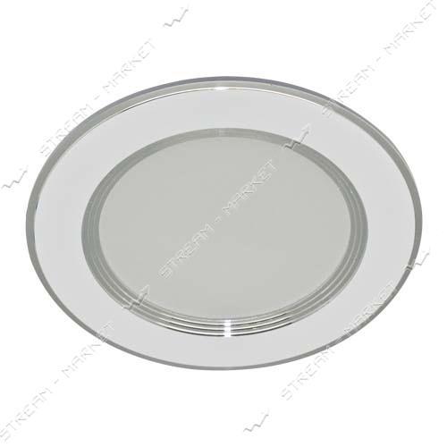FERON панель светодиодная AL527 15W 5000К нейтральный круг стекло пластик 100x40 мм