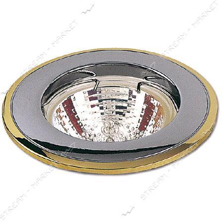 Cветильник точечный Delux 10008655 MR16 12V GU5.3 хром матовый - золото