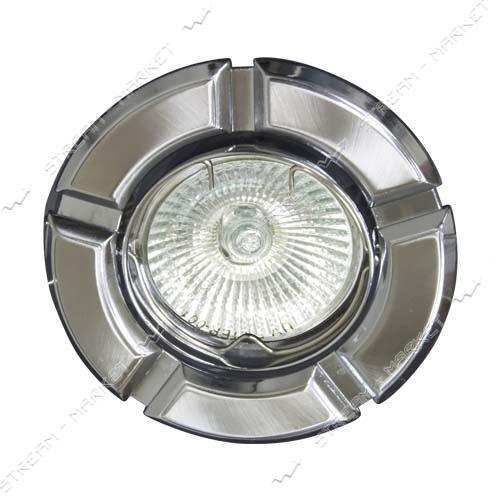 FERON светильник точечный 098 R-50 черное-серебро / круглый/ GD-CM