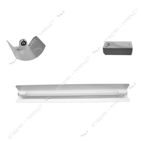 VESTA Светильник (метал основание ) под 1 линейную LED лампу длинна 645мм G13 V-645 белый