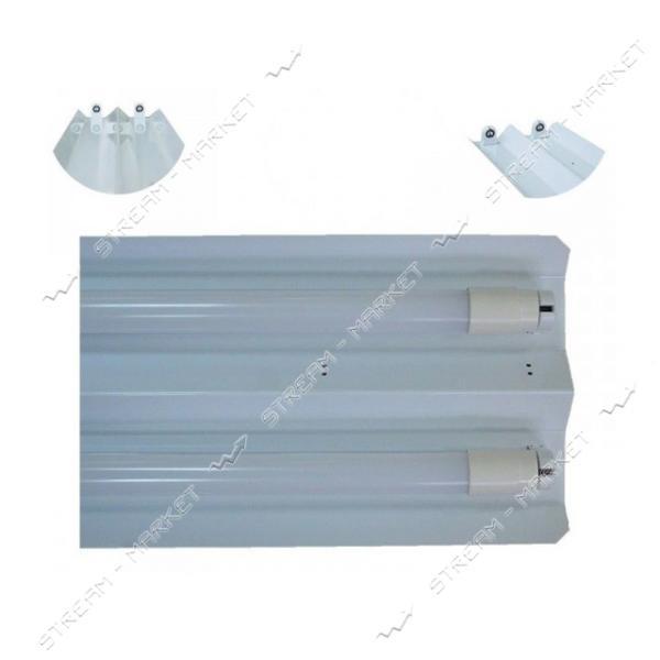 VESTA Светильник (метал основание ) под 2 линейные LED лампы длинна 1245мм G13 W-1245 белый