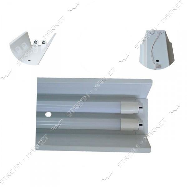 VESTA Светильник (метал основание ) под 2 линейные LED лампы длинна 1540мм G13 DeepFligt-1540 белый