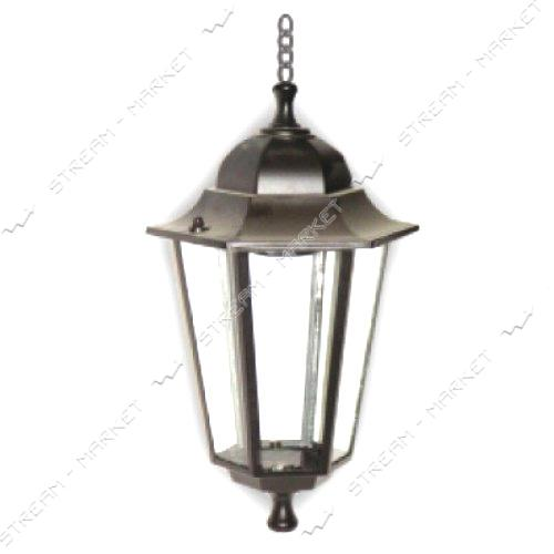 LEMANSO 6105 Парковый светильник Подвес 6 гран черн 60W E27 метал, стекло