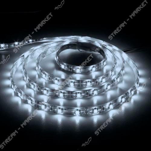 МОТОКО Светодиодная лента smd 3528, 60 Led/m, DC 12, 4.8 W/m, IP65 белый