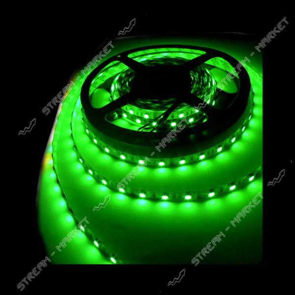 Светодиодная лента smd 3528, 120 Led/m, DC 12, 9.6 W/m, IP65 зеленый