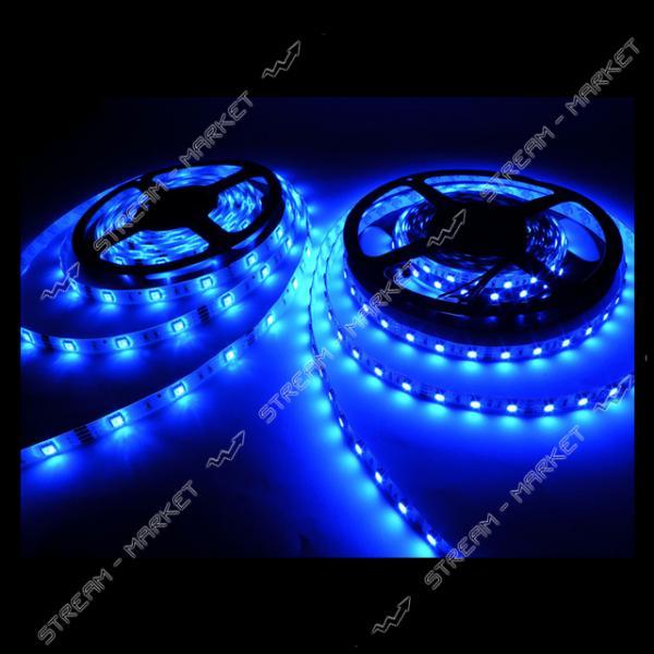 Светодиодная лента smd 3528, 120 Led/m, DC 12, 9.6 W/m, IP65 синий