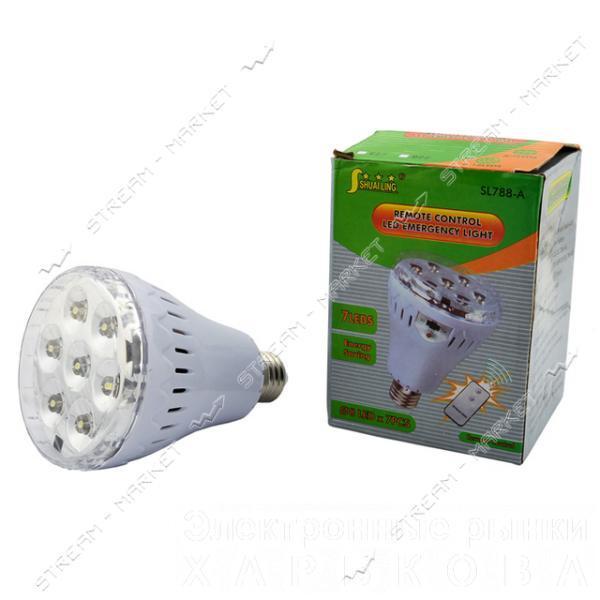 Лампа аварийная светодиодная SL-788-A 7 LED Е27 без пульта, аккумуляторная - Аварийное освещение на рынке Барабашова