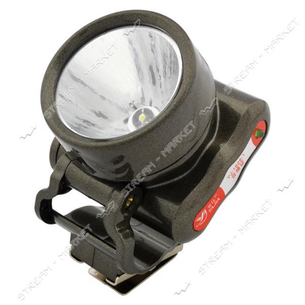 Фонарь на лоб светодиодный YJ-1829 1 LED аккумуляторный
