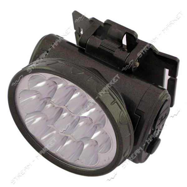 Фонарь на лоб светодиодный YJ-1898 13 LED 2 режима аккумуляторный