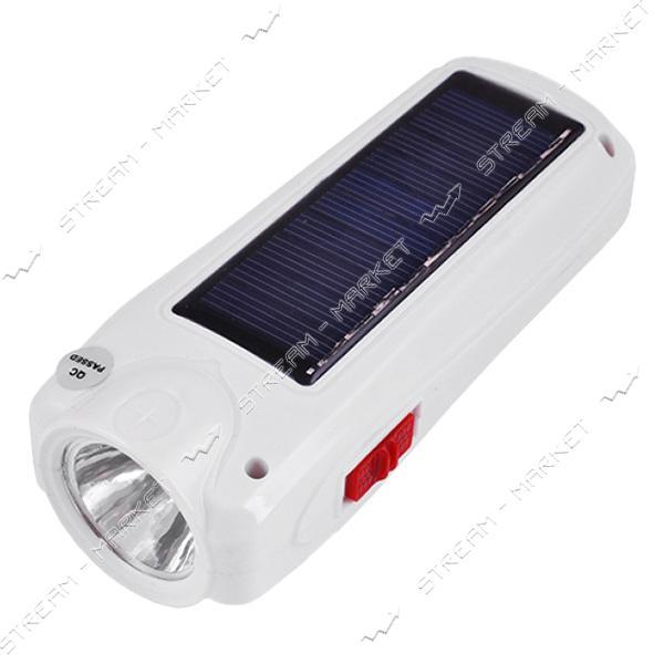 Фонарь ручной светодиодный YJ-1027T 1LED 9SMD аккумуляторный (солн. батарея)