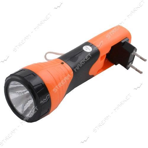 Фонарь ручной светодиодный YJ-209 1LED аккумуляторный