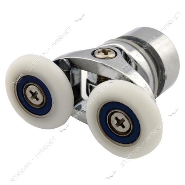 ANGO (HR-10027 up) Ролик для душевых кабин поворотный, двойной, хром, металл d=25мм (В-127в)