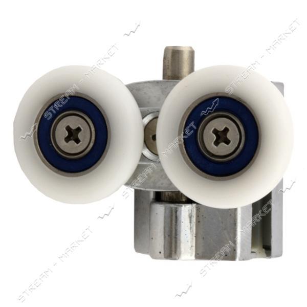 ANGO (HR-10031 down) Ролик для душевых кабин поворотный, двойной, металл, нажимной d=25мм (М-07а)