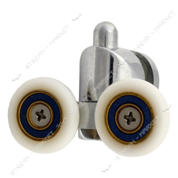 ANGO (HR-10054 down) Ролик для душевых кабин поворотный, двойной, хром, металл, нажимной d=23мм