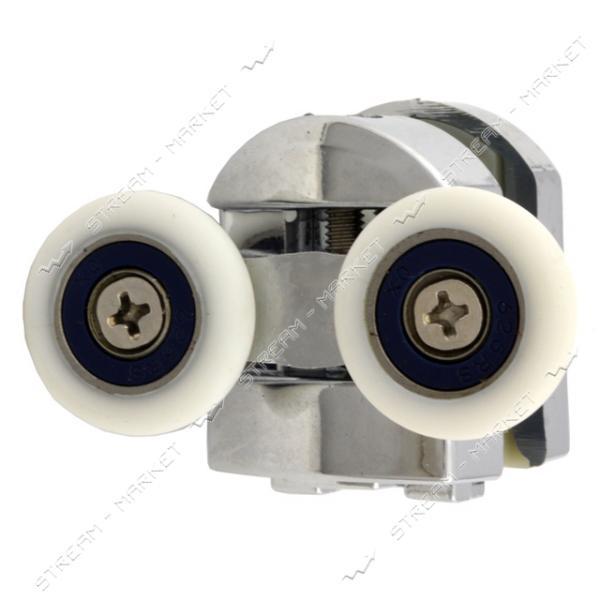 ANGO (HR-10088new) Ролик для душевых кабин поворотный, двойной, хром, металл d=23мм (М-02в)