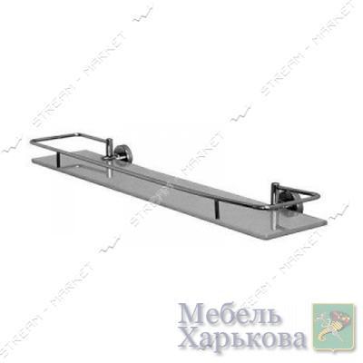 Полочка под зеркало 50см для ванной комнаты ( F-034_50 ) (стекло) - Полки и этажерки для ванных комнат в Харькове
