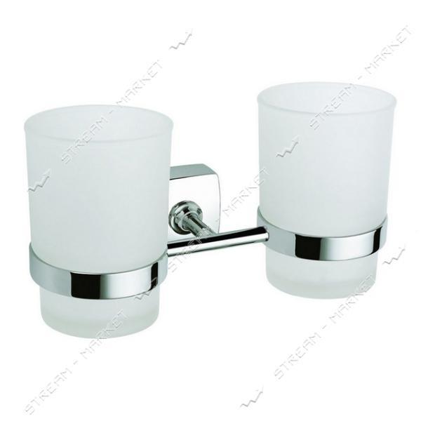 Стакан двойной для ванной комнаты К-039 (стекло)