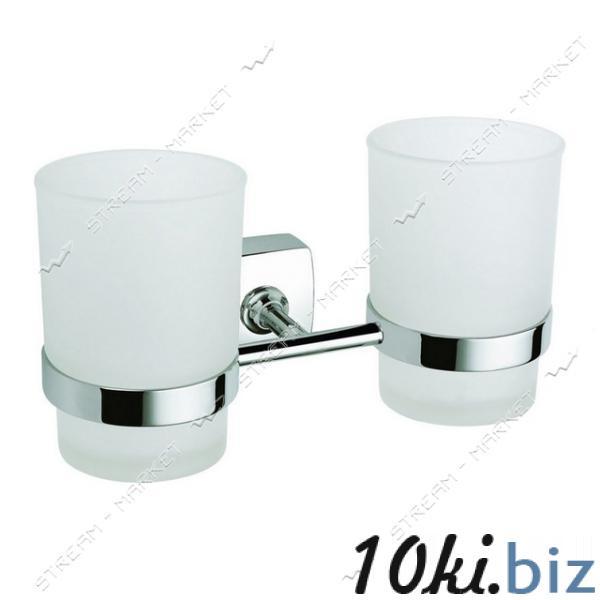 Стакан двойной для ванной комнаты К-039 (стекло) купить в Харькове - Подставки и стаканы для зубных щеток