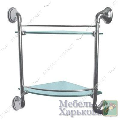 Полка двойная (3102с ) - Полки и этажерки для ванных комнат в Харькове