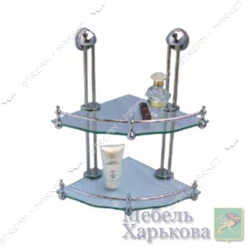 Полка двойная (9702с) - Полки и этажерки для ванных комнат в Харькове