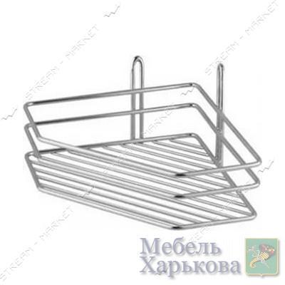 Полка угловая одинарная (металл) (А-125) - Полки и этажерки для ванных комнат в Харькове