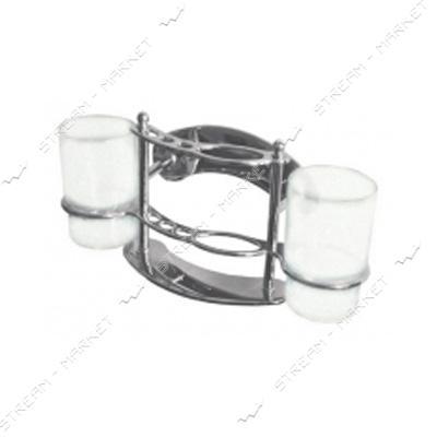 Стакан двойной держатель зубных щеток для ванных комнат('краб') (8002)