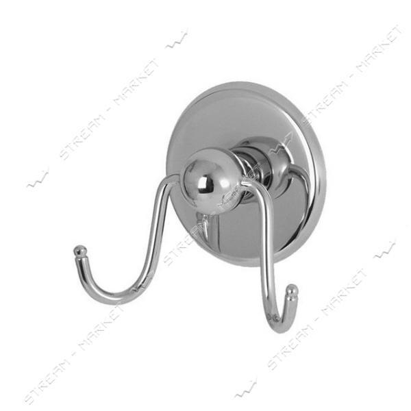 Крючок двойной для ванной комнаты ('Бармед' 10060)