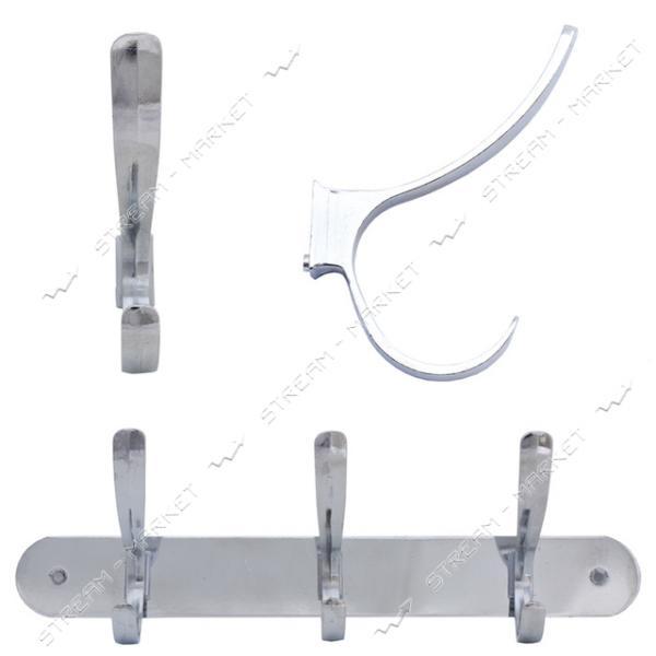 Планка с крючками на 3 рожка для ванной комнаты ( HL918-3)
