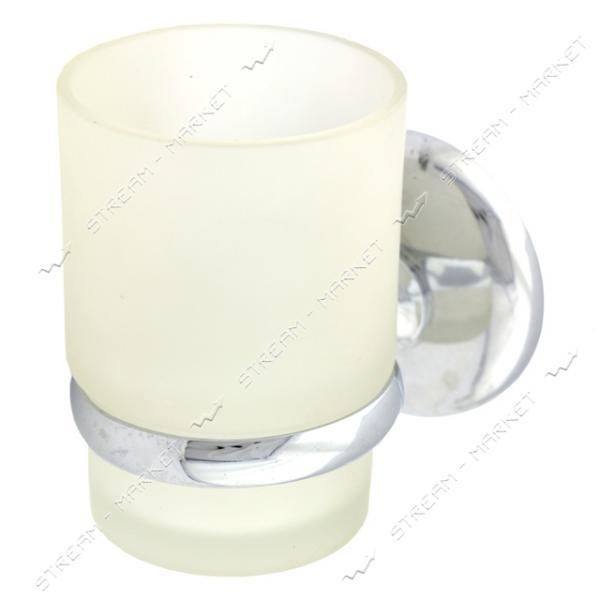 Стакан одинарный для ванной комнаты (стекло) ( 66584с)