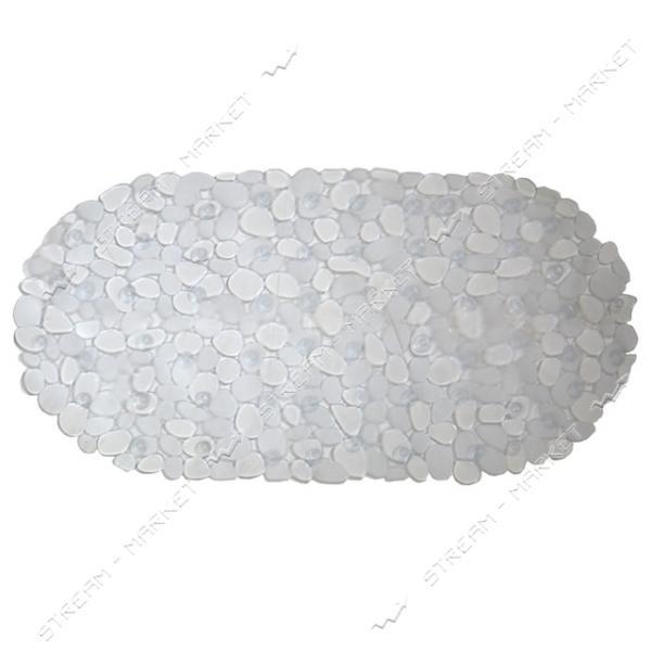 Коврик для ванны силиконовый Камушки прозрачный 40х60см
