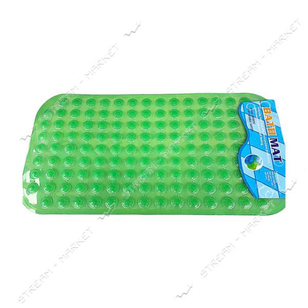 Коврик для ванны силиконовый Камушки прозрачный 40х60см прямоугольный