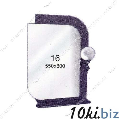 Двойное зеркало (ф-16) (550*800мм, 1 полка) с одним отверстием под светильник (без светильника) Зеркала на Электронном рынке Украины