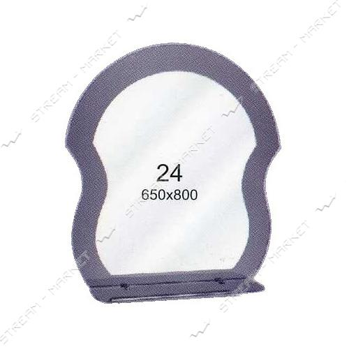 Двойное зеркало (ф-24) (650*800мм, 1 полка)