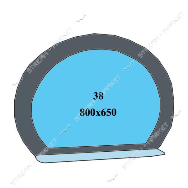 Двойное зеркало (ф-38) (800*650мм, 1 полка)