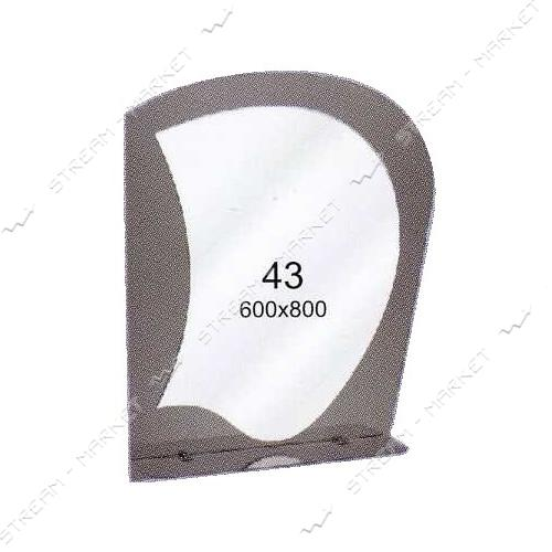Двойное зеркало (ф-43) (600*800мм, 1 полка)