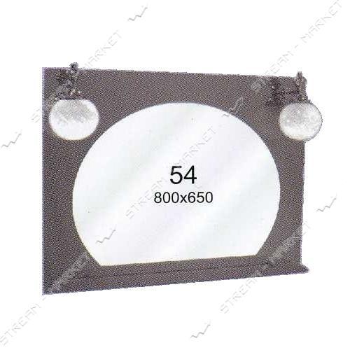 Двойное зеркало (ф-54) (800*650мм, 1 полка) с двумя отверстиями под светильники (без светильников)