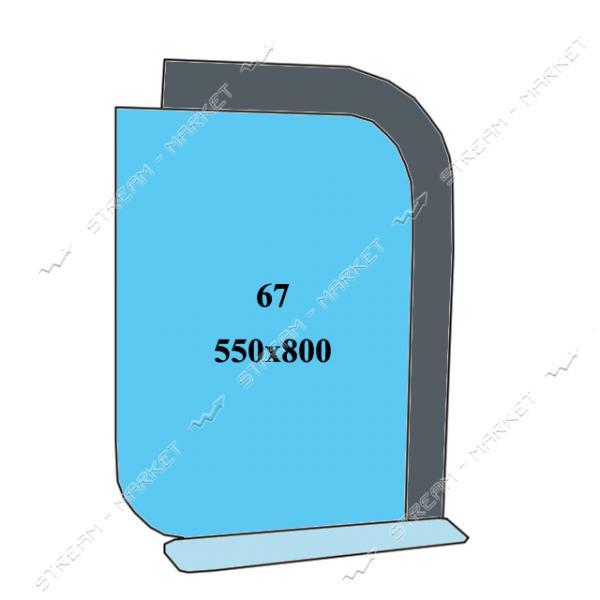 Двойное зеркало (ф-67) (550*800мм, 1 полка)