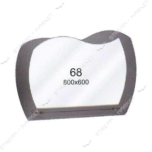 Двойное зеркало (ф-68) (800*600мм, 1 полка)