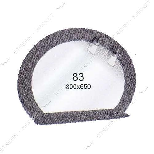 Двойное зеркало (ф-83) (800*650мм, 1 полка) с двумя отверстиями под светильники (без светильников)