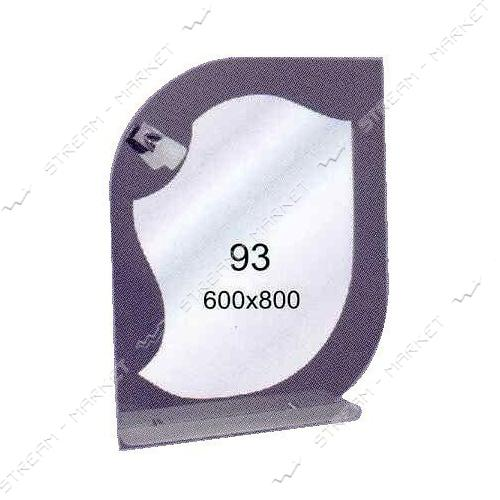 Двойное зеркало (ф-93б/ц) (500*750мм, 1 полка)