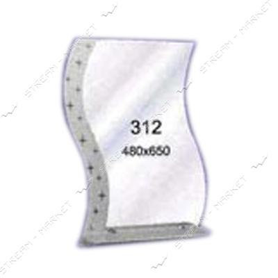 Зеркало пескоструйка (480*650 1 полка) (312)