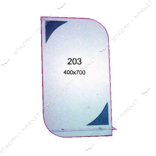 Зеркало (400*700мм, 1 полка зеркало) (203)
